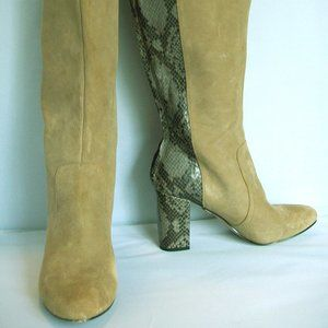 Anne Klein Nilise Suede Knee High Boots, Size 10